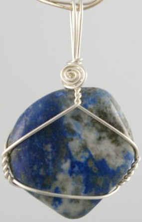 Lapis Lazuli wire wrap gemstone from Wicked Stones