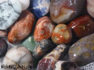 Working with healing stones at Wicked Stones