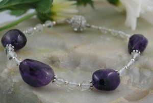 Amethyst Nugget Bracelet for Yoga and Meditation