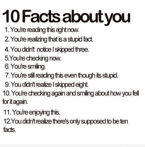 10 facts about you funny