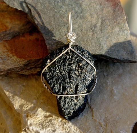 Tektite meteor jewelry