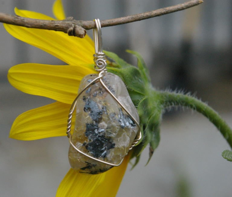 Rutile Quartz healing crystal by wicked stones in Canada